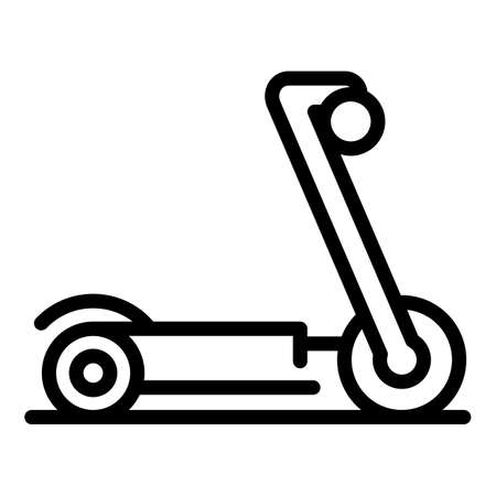 Modern electric scooter icon. Outline modern electric scooter vector icon for web design isolated on white background