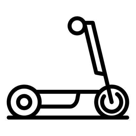 Balance electric scooter icon. Outline balance electric scooter vector icon for web design isolated on white background Çizim