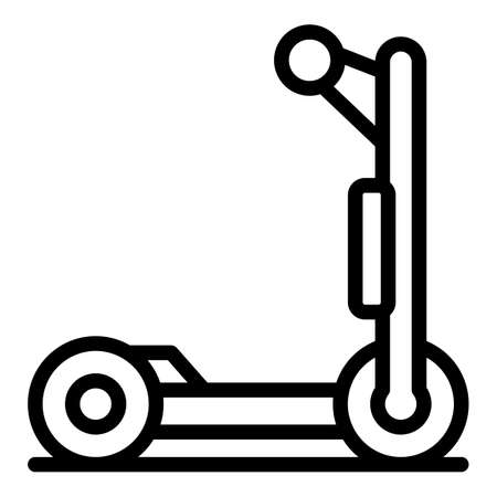 Fast electric scooter icon. Outline fast electric scooter vector icon for web design isolated on white background Çizim