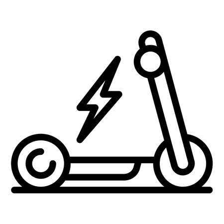 Handle electric scooter icon. Outline handle electric scooter vector icon for web design isolated on white background
