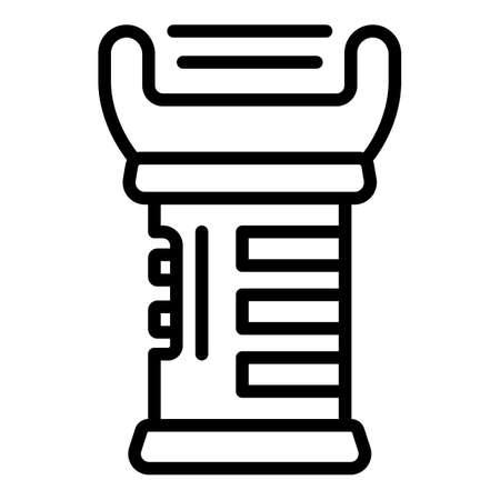 Taser safety icon, outline style Ilustração