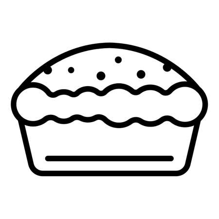 Food apple pie icon, outline style