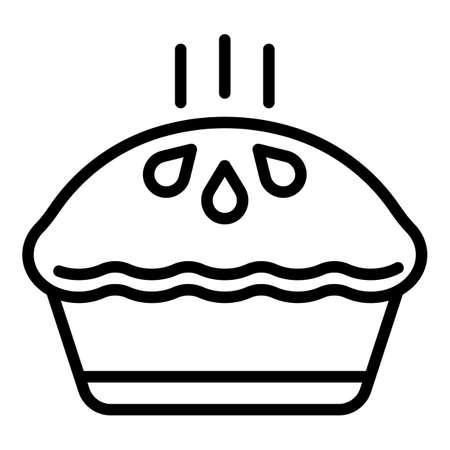 Dessert apple pie icon, outline style