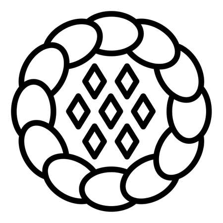 Sweet apple pie icon, outline style
