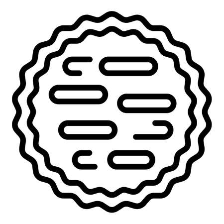 Cooked apple pie icon, outline style