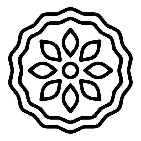 Fruit apple pie icon, outline style Vetores
