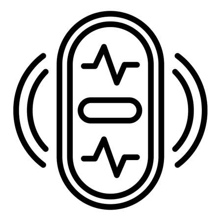 Fitness tracker icon, outline style
