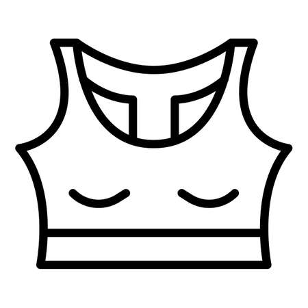 Sport woman bra icon, outline style 矢量图像