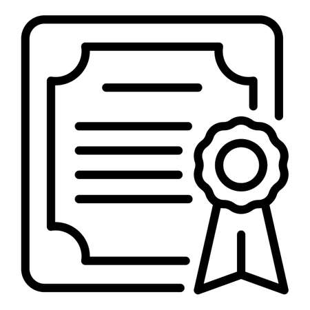 Mentor diploma icon, outline style