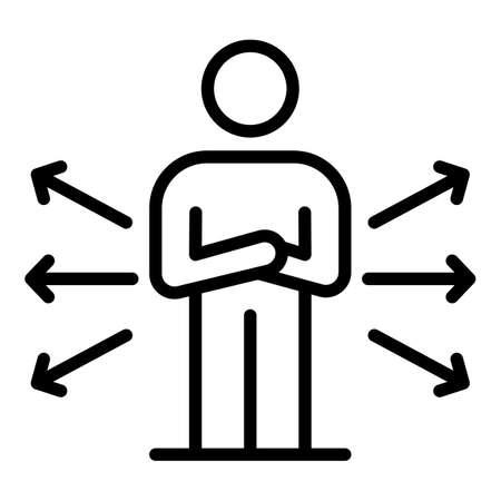 Mentor icon, outline style Ilustración de vector