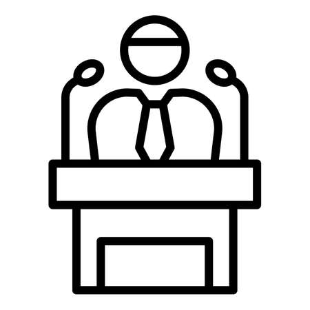 Mentor speaker icon, outline style