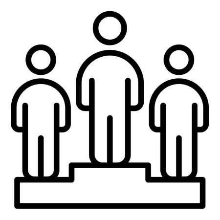 Mentor podium icon, outline style
