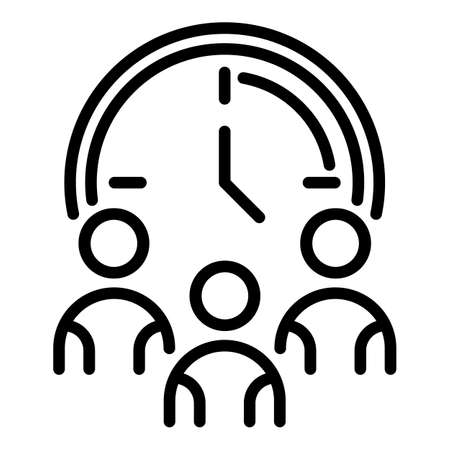 Mentor team lesson icon, outline style