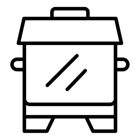Cook smoker icon. Outline cook smoker vector icon for web design isolated on white background Vettoriali