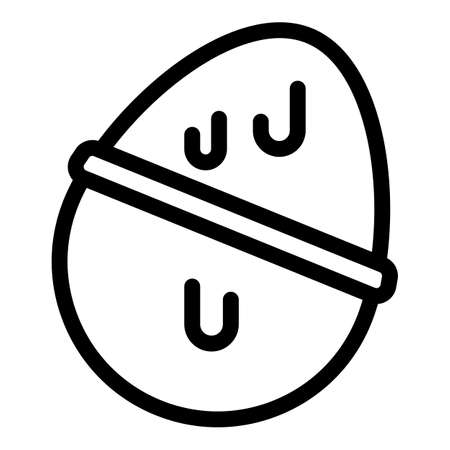 Chocolate egg icon. Outline chocolate egg vector icon for web design isolated on white background Ilustração