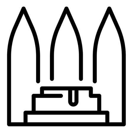 Turkish bath hammam icon. Outline turkish bath hammam vector icon for web design isolated on white background Stock Illustratie