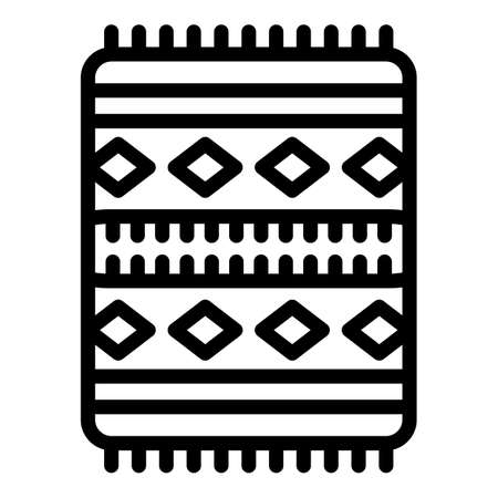 Prayer mat icon. Outline prayer mat vector icon for web design isolated on white background