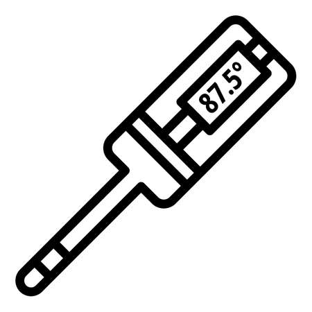 Medical digital thermometer icon. Outline medical digital thermometer vector icon for web design isolated on white background