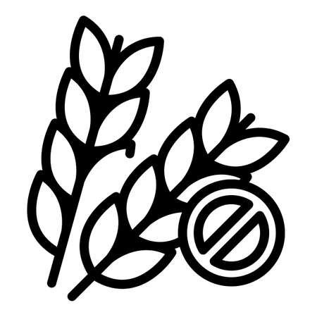 Gluten free icon. Outline gluten free vector icon for web design isolated on white background Vecteurs