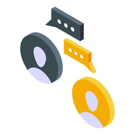 Report personal chat icon, isometric style Ilustração