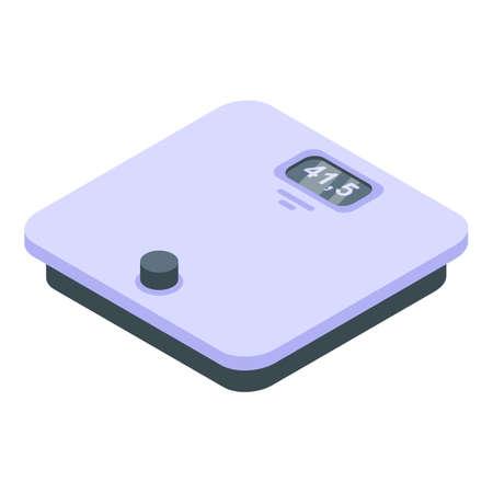 Bodybuilding scales icon, isometric style Vettoriali