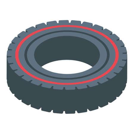 Bodybuilding tire training icon, isometric style Иллюстрация