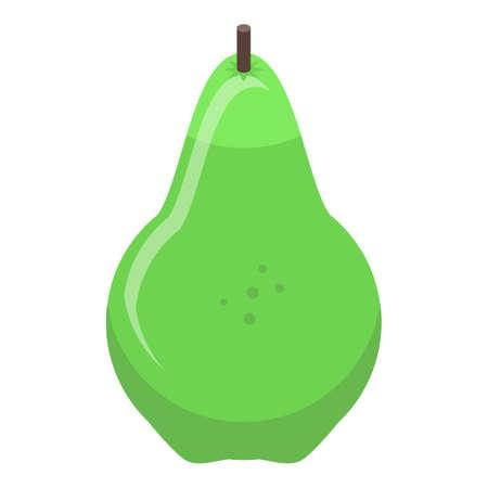 Healthy pear food icon, isometric style Ilustração