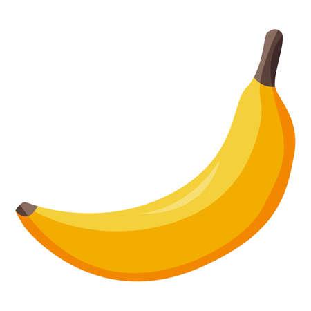 Healthy banana food icon, isometric style