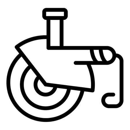 Electric grinding machine icon, outline style