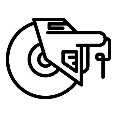 Equipment grinding machine icon, outline style Stock Illustratie