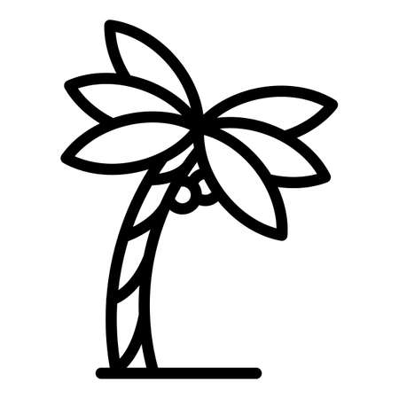 Hawaii palm tree icon, outline style