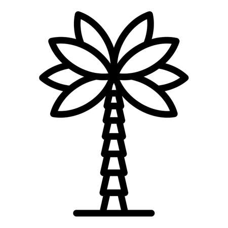 Coconut palm tree icon, outline style