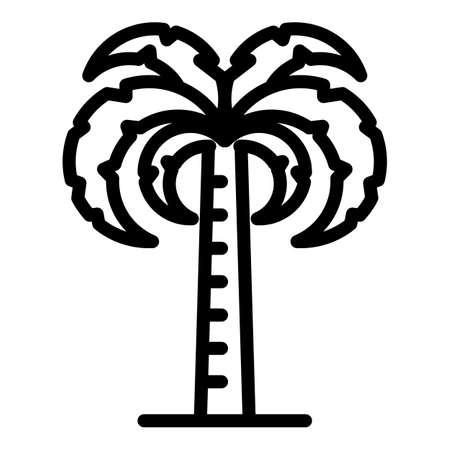 Garden palm tree icon, outline style