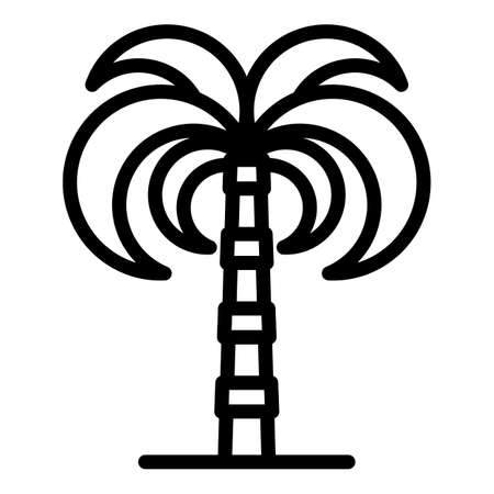 Landscape palm tree icon, outline style