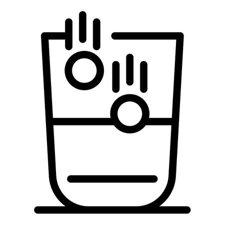 Sport nutrition water pills icon, outline style