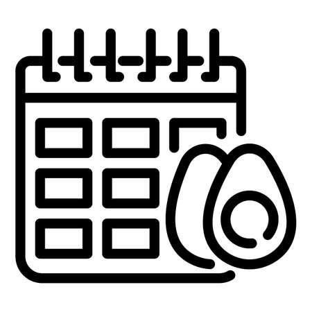 Sport nutrition calendar icon, outline style