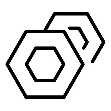 Bicycle nuts icon, outline style