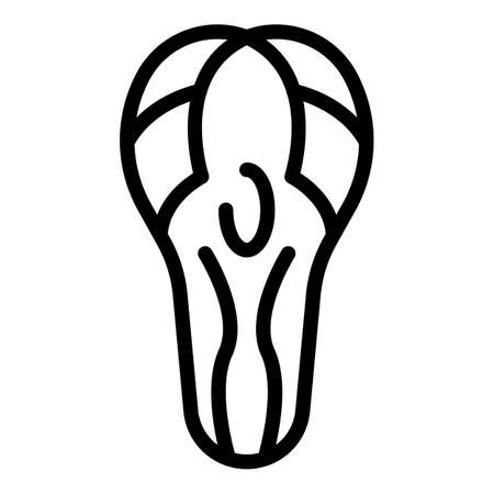 Bicycle repair seat icon, outline style