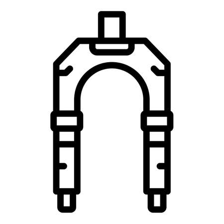 Bicycle repair suspension fork icon, outline style