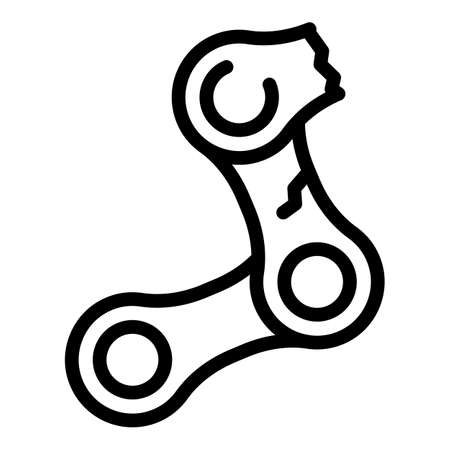 Bicycle repair chain icon, outline style