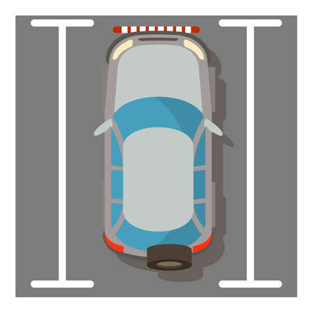 Compact suv icon, isometric style