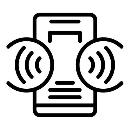 Wireless connection icon, outline style