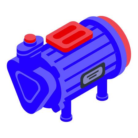 Industrial pump icon, isometric style Vektorové ilustrace