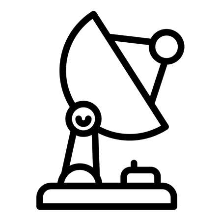 Satellite dish icon, outline style