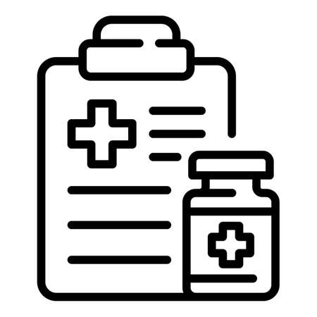 Doctor receipt icon, outline style
