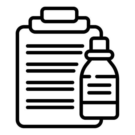 Receipt drugs icon, outline style