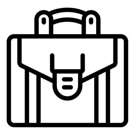 Office briefcase icon, outline style