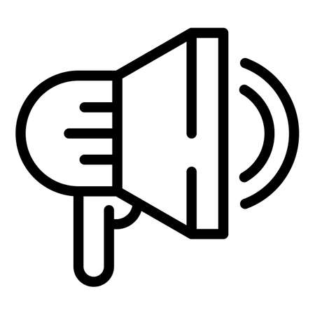Advertise job icon, outline style