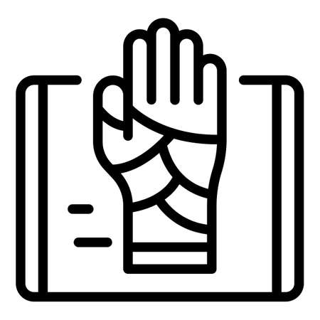 Injured hand icon, outline style