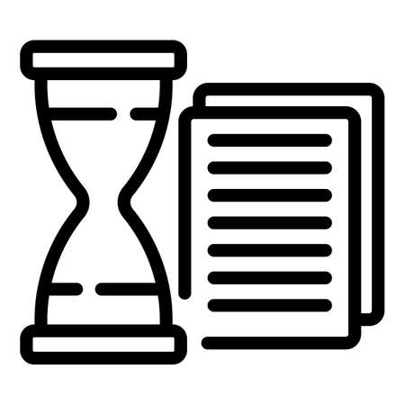 Time opportunity icon, outline style